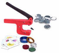 """Button-Maker: 1 1/4"""" Starter Kit - Hand Press Button Maker/Button Machine!"""