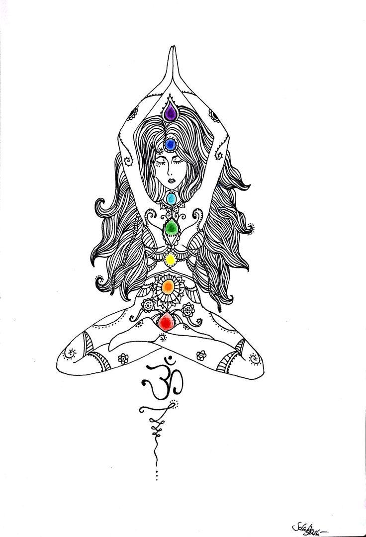 Equilibrium Chakra Mandala Colors Black And White Tattoo