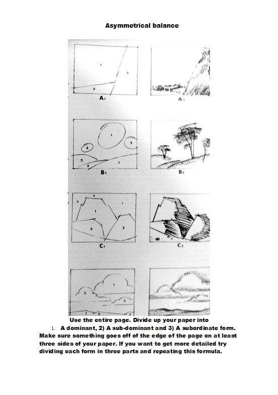The Helpful Art Teacher: Asymmetrical Balance: Creating dynamic compositions