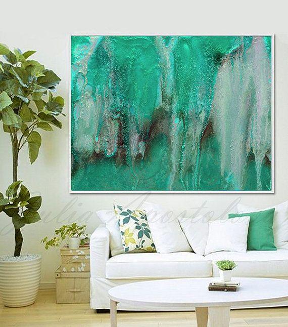 #Miniamalist #Painting #52inch, #Zenpainting, #MinimalArt #LargeWallArt, #Abstract #Print #Watercolor, #Landscape, #AbstractBeach, #Turquoise #GreenArt, #WatercolorPainting #SeascapeArt, #ArtPrint, '' #Sensual #Zen''