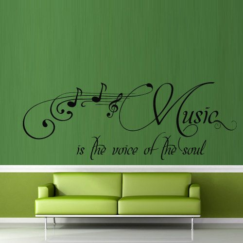 Wall decal decor decals art sticker music note inscription letter quote voise soul (m375)