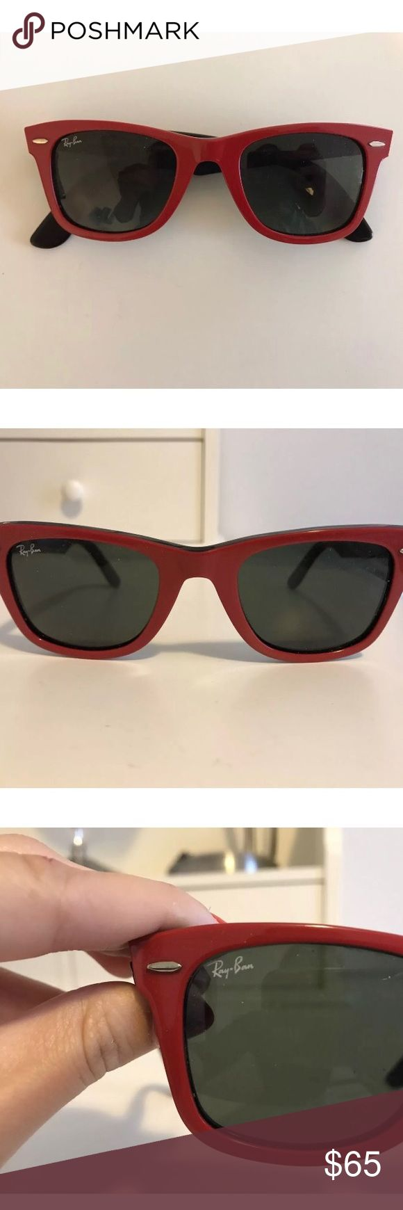 Ray Ban Wayfarer Great sunglasses in excellent condition. Hardly worn and barely any marks. ray ban Accessories Sunglasses