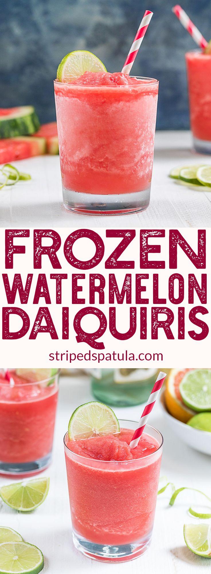 Frozen Watermelon Daiquiri Recipe | Frozen Drinks | Easy Summer Cocktails