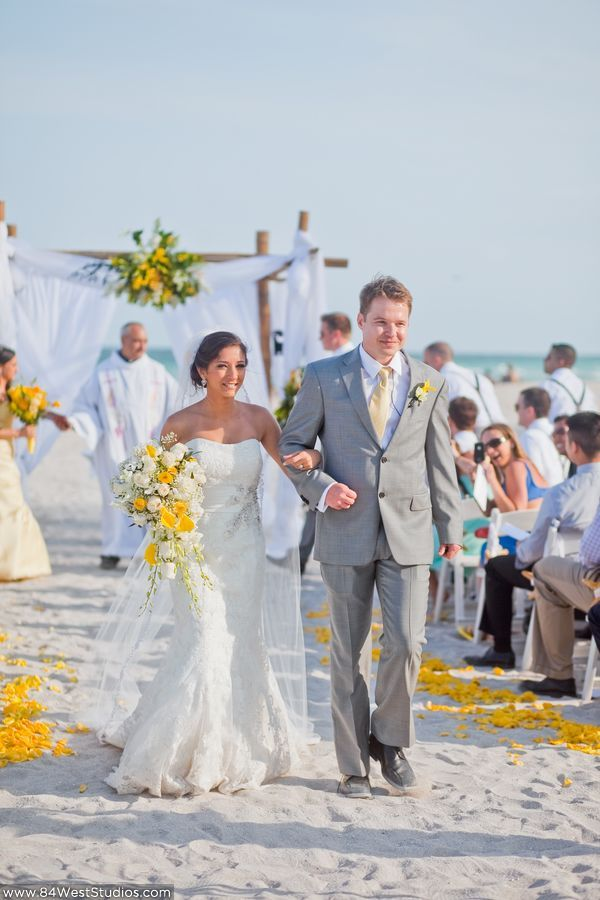 Gray and yellow beach wedding colors  Tatiana & Scott's Miami Beach Wedding at The Palms Hotel @ South Florida WeddingsSouth Florida Weddings