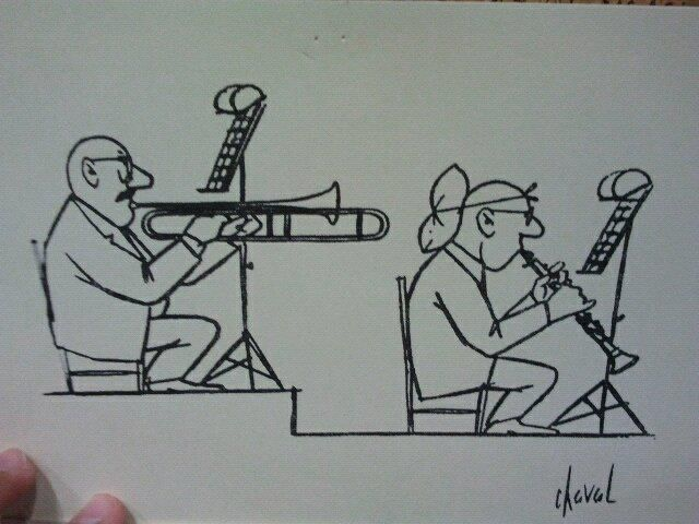 In a perfect world this would happen to trumpets only. Trumpet players are so snobby because they always get the melody.