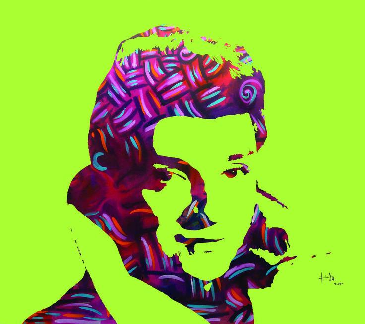 Zeki Muren Portrait, acrylic on canvas 230x260cm 2007