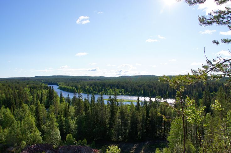 Fluss Iijoki, Taivalkoski, Lappland, Finnland