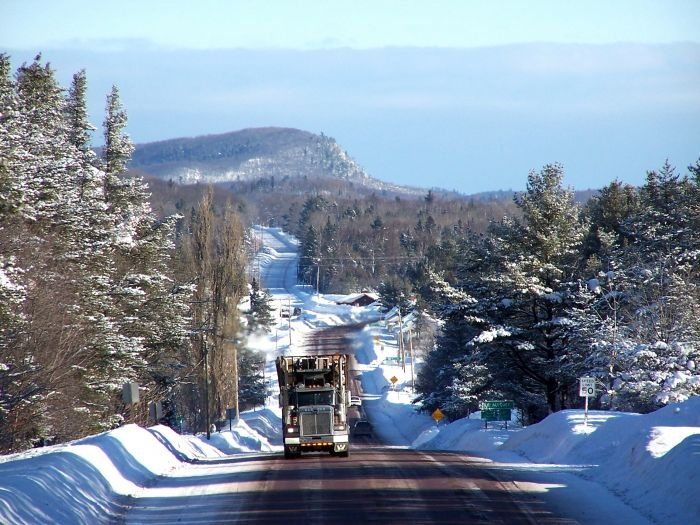 Ice road trucker (reminds of my father in law, logging in the winter up in Mi.)