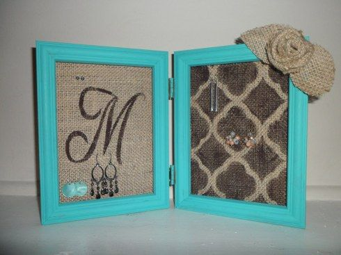 Another DIY Earring Holder. No hanging necessary.