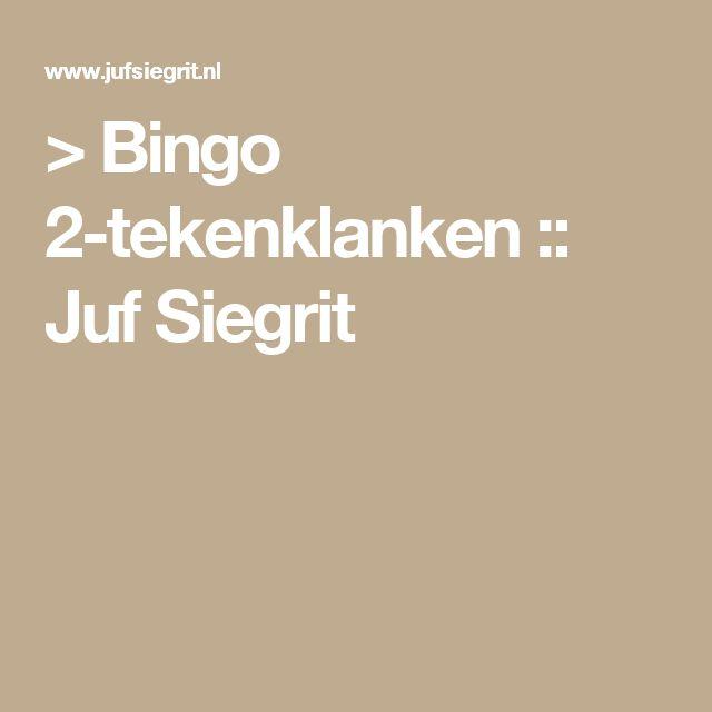> Bingo 2-tekenklanken :: Juf Siegrit