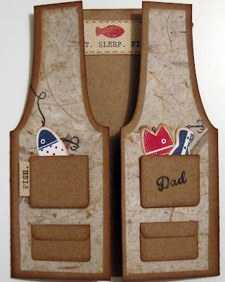 Fishing Vest Card. Invitations? Mom, you'll love this!!