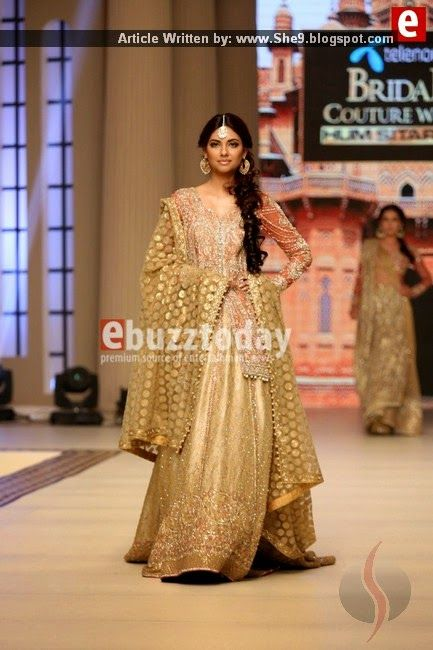 Faraz Manan Bridal Couture at TBCW2014   Designers Fashion Show - She9   Change the Life Style