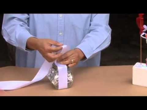 Cómo decorar un frascos de caramelos para una mesa de dulces - YouTube