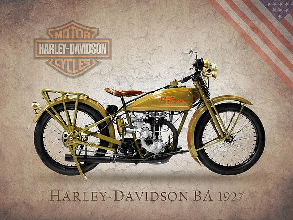 Harley-davidson 1927 Print By Mark Rogan