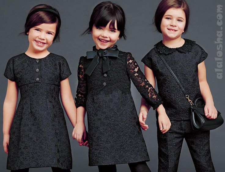 ALALOSHA: VOGUE ENFANTS: Child model LUDOVICA starring in the new FW14/15 Ad Campaign for the Dolce&Gabbana