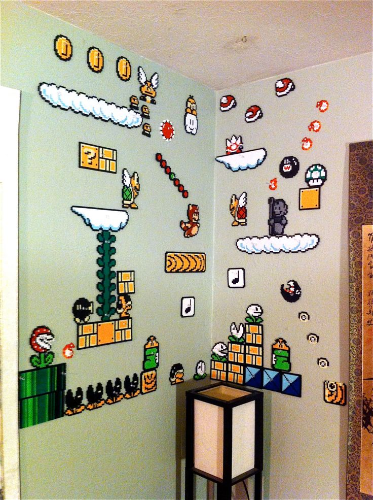Super Mario Brothers 3 World 5 Wall Scene perler beads by EchoBaseCrafts