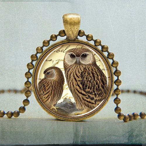 lovely and cute owl pendant necklace owl jewelry