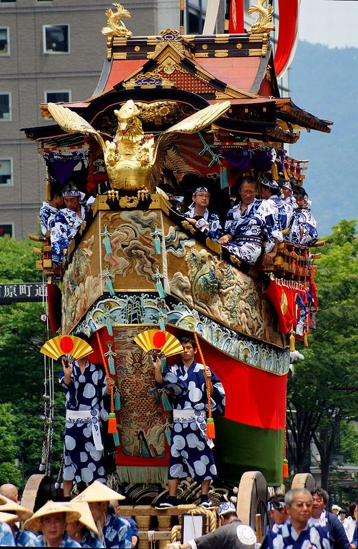 Gion Matsuri Festival, Kyoto, Japan Takes place all of July, with the parade on july 17th and 24th