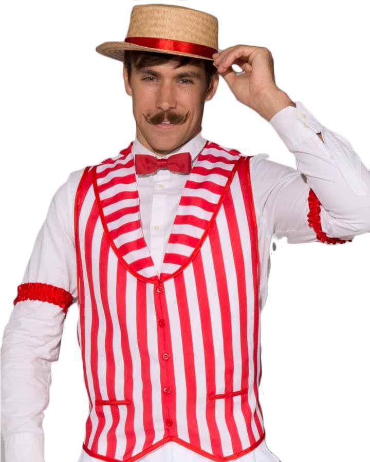 Barbershop Quartet Vest Great Gatsby Costume Party