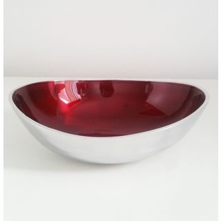 Fairtrade Recycled Aluminium Large Round Bowl Red £15.00