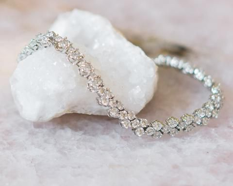 Silver and Crystal Wedding Bracelet, Anastasia  2
