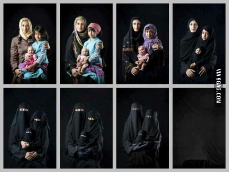 A powerful picture made by a yemeni woman.
