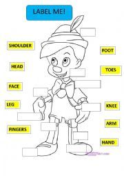 English teaching worksheets: Pinocchio