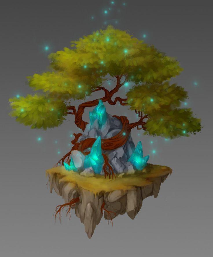 Magic Bonsai Tree, Anna Nikitina on ArtStation at https://www.artstation.com/artwork/PNE9B
