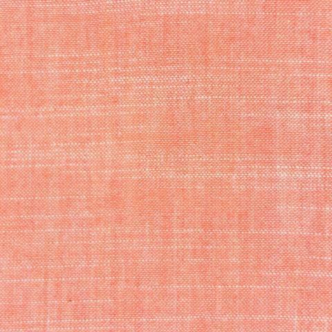 Coral - Birch Fabric - Organic Cotton YARN DYED CHAMBRAY | Simplififabric.ca