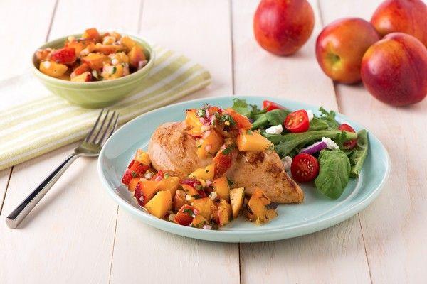 Grilled Corn and Ontario Nectarine Relish - Produce Made Simple
