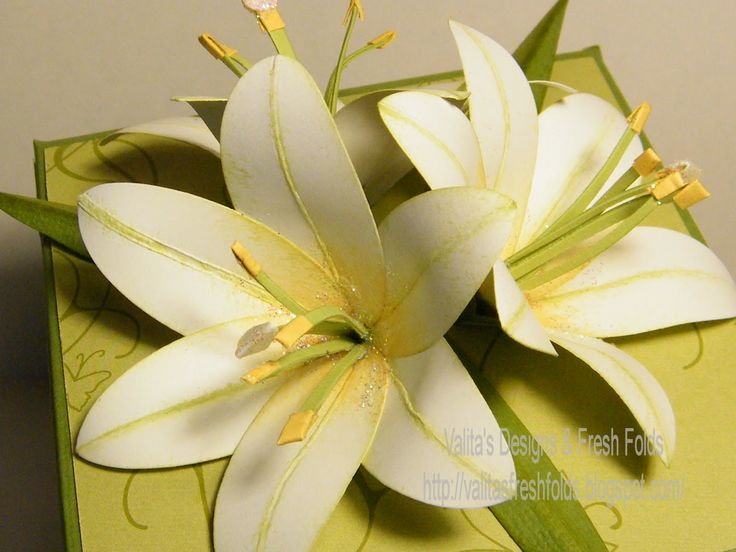 how to make an lily flower | and a last thought