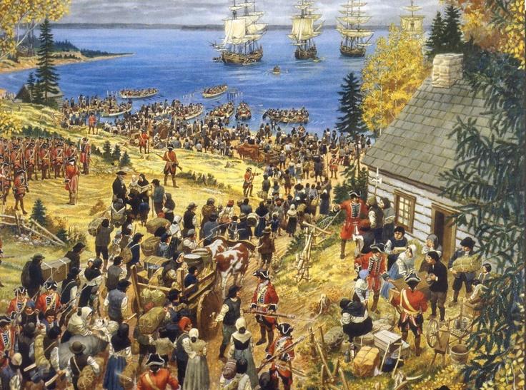 The expulsion of Acadians from Nova Scotia - 1700s