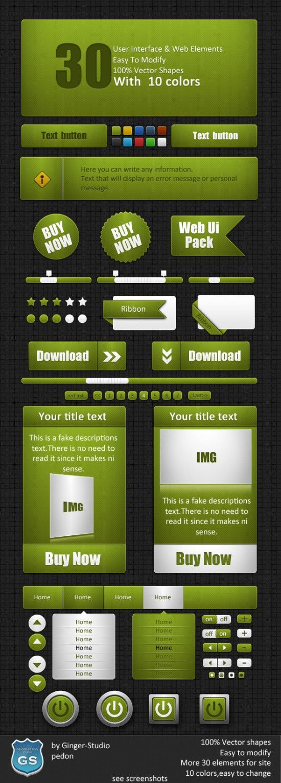 20 Fresh & Detailed UI PSD Kits for Designers - Bloom Web Design