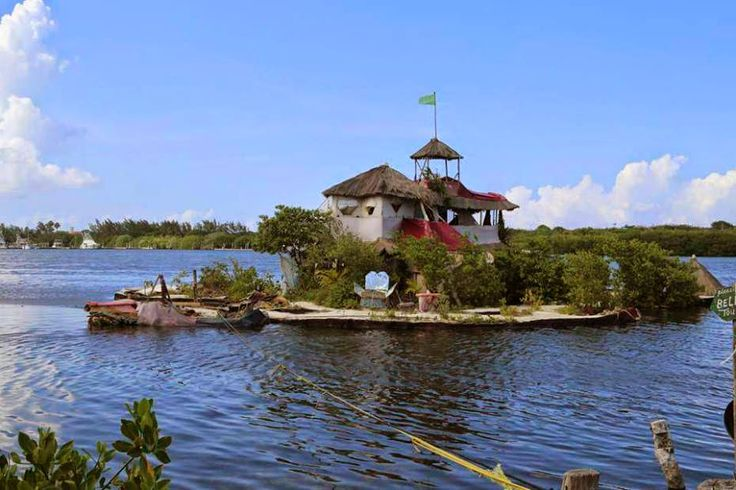 An Englishman has made a floating island paradise for himself near Cancun off the coast of Mexico using 150,000 recycled plastic bottles.  http://www.trendingwiki.com/2014/11/man-lives-on-island-made-out-of-plastic.html