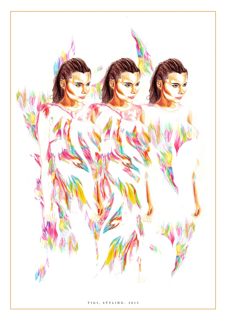 Illustration for Tigi- Coloured pencil by Nas Abraham