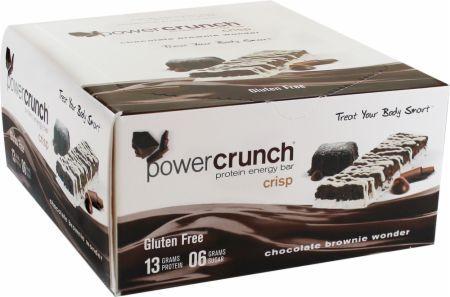 BioNutritional Power Crunch Bars Crisp - Chocolate Brownie Wonder 12 bars BN2170514 Crisp - Chocolate Brownie Wonder - High Protein Energy Snack Engineered For The Human Race!