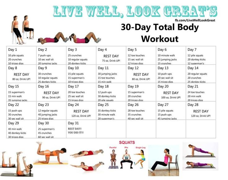 30 Day Workouts And Workout On Pinterest