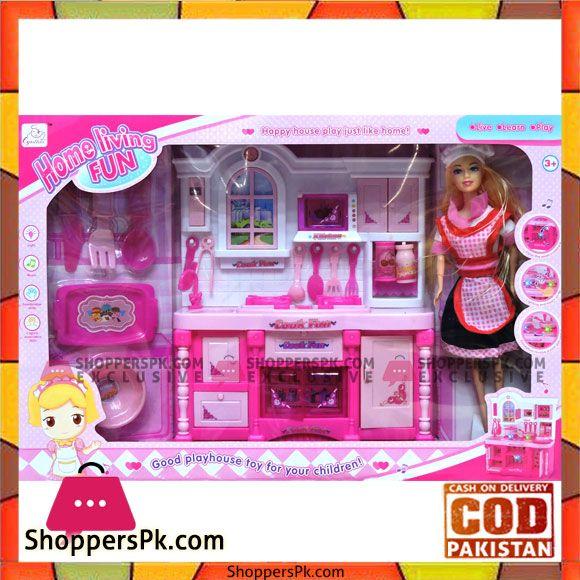 Buy Home Living Fun Barbie Kitchen Set At Best Price In Pakistan Barbie Kitchen Set Barbie Kitchen Kitchen Sets