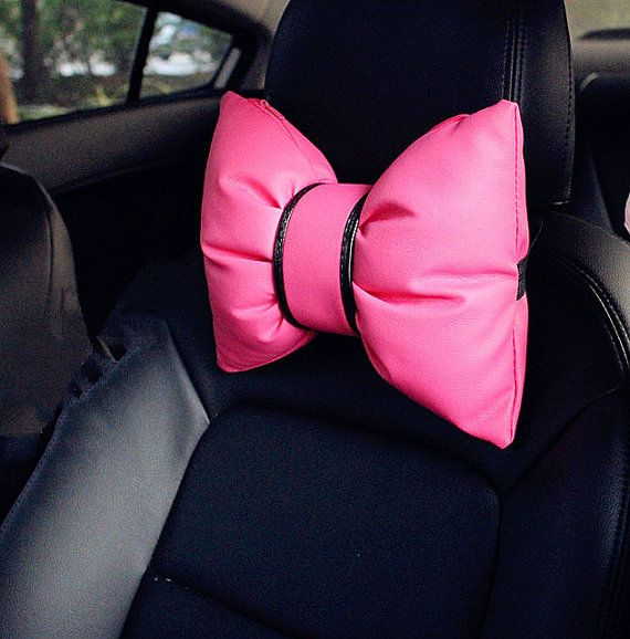 Hey, I found this really awesome Etsy listing at https://www.etsy.com/listing/228235422/hot-pink-bow-shape-car-automotive-seat