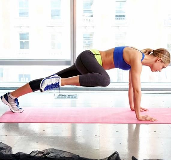 Spider Man Plank Crunches will have your abs screaming! Get this move and others in our 10 Minute Ab Sculptor Routine!