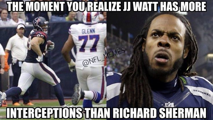 Just sayin…JJ Watt vs. Richard Sherman