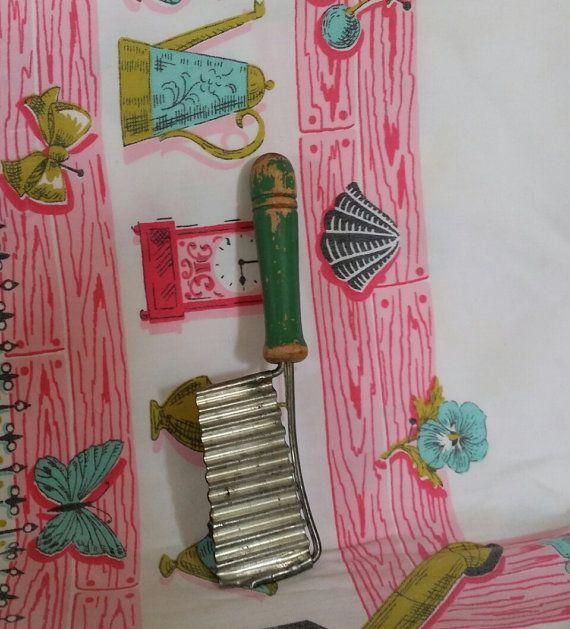 Green Slicer Utensil Handled Antique by DarlenesCountryGoods