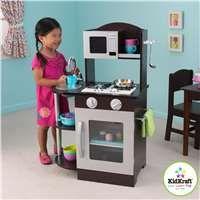 KidKraft Modern Espresso U0026 Silver Toddler Kitchen Kids