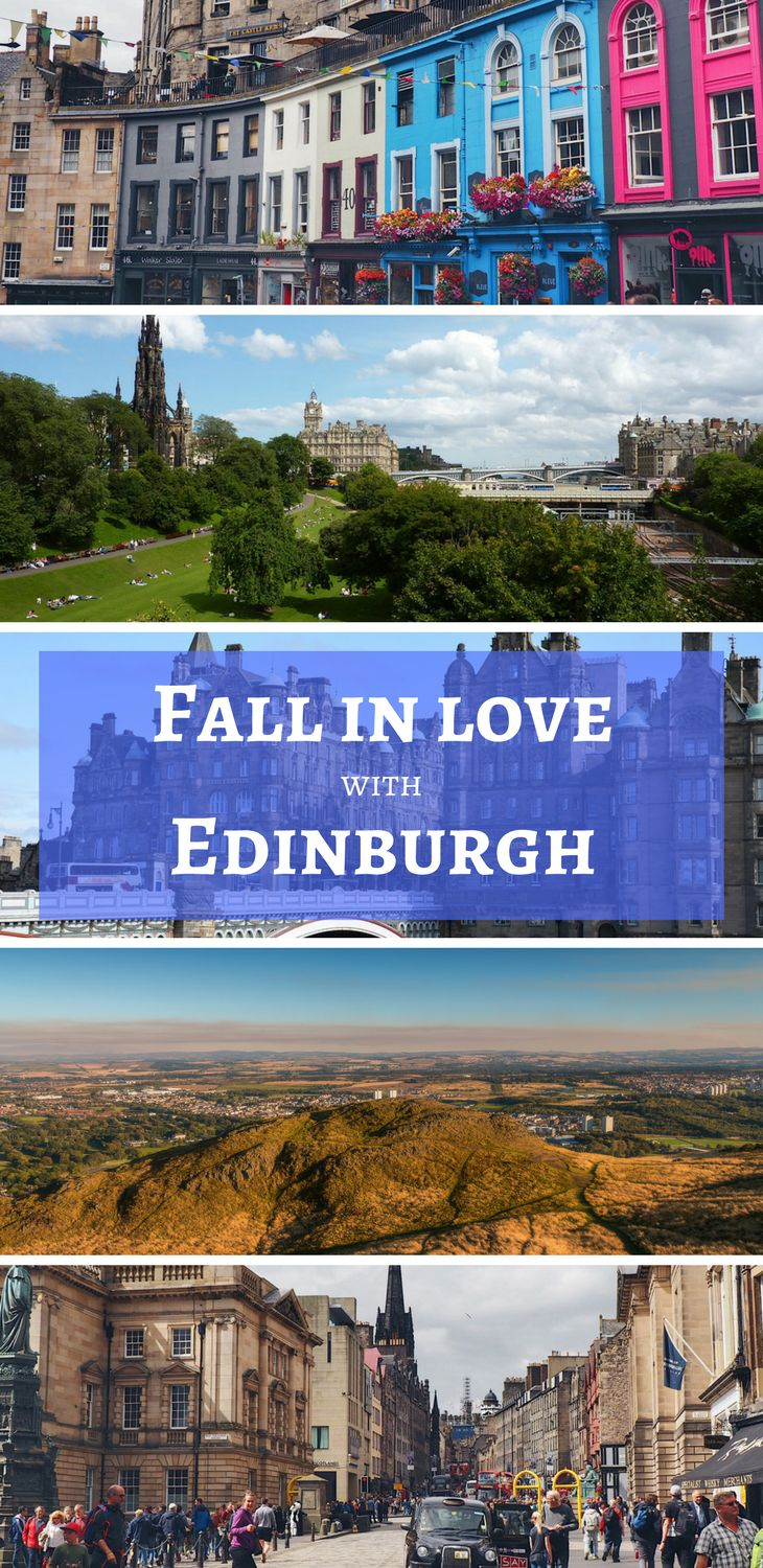 There's so much to love about Edinburgh! The Scottish capital has a big personality, a stunning rugged terrain, lively pubs and stick-to-yer-ribs food. Need more inspiration to visit Edinburgh? Click to read one ex-Burger's favourite things about the Scottish city! #UKtravel #Europe #Scotland