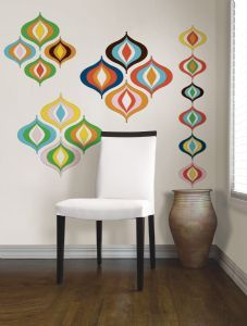 wallpops by jonathan adler bargello wave wall art kit art room maybe on the closet door add interest on wall opposite computer desk