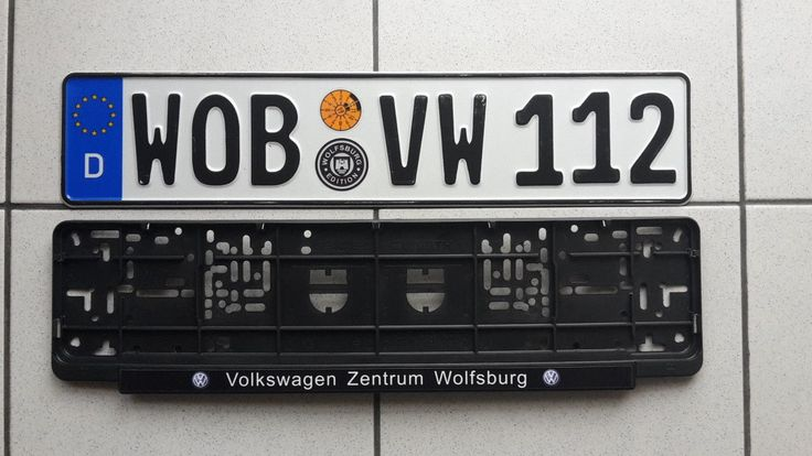 Cool Awesome WOB Wolfsburg Germany VW,VOLKSWAGEN Golf,Jetta,Passat,GTI,Bug license plate 2017-18