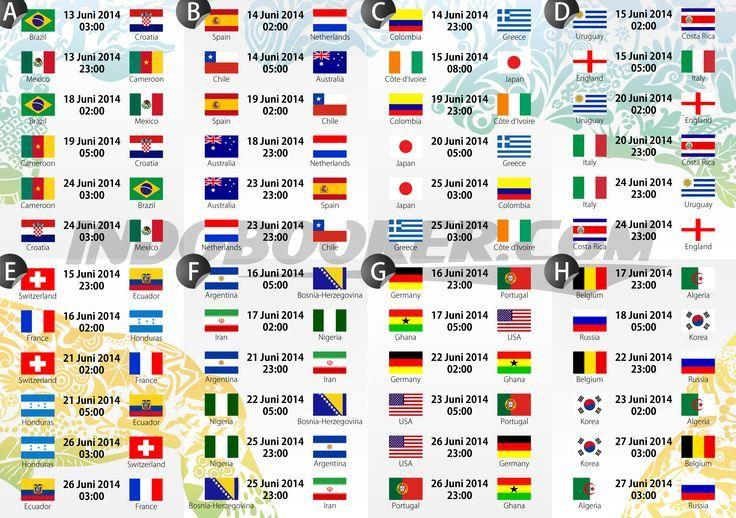 World Cup 2014 Schedule...