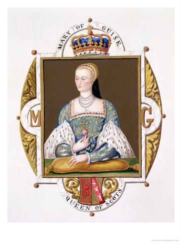 """Mary of Guise 1515–1560-Queen consort of Scotland & mother of Mary, Queen of Scots. 1st Mary married Louis II d'Orléans, Duke of Longueville. The union was happy, but brief. James V had noticed the attractions of Mary when he went to France to meet Madeleine, & Mary was next in his affections.  James's mother Margaret Tudor wrote to Henry VIII, """"I trust she will prove a wise Princess. I have been much in her company, & she bears herself very honourably to me, with very good entertaining."""""""