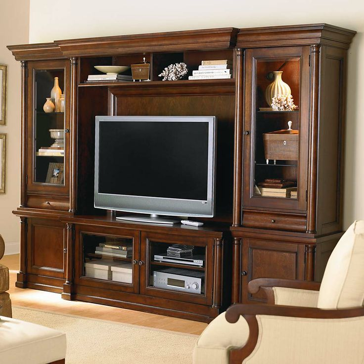Nice Louis Philippe Open Entertainment Wall Unit By Bassett At DuBois Furniture