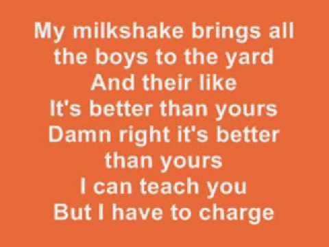Kelis - Milkshake LYRICS - YouTube